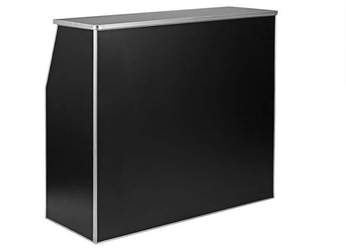 Black portable bar rental