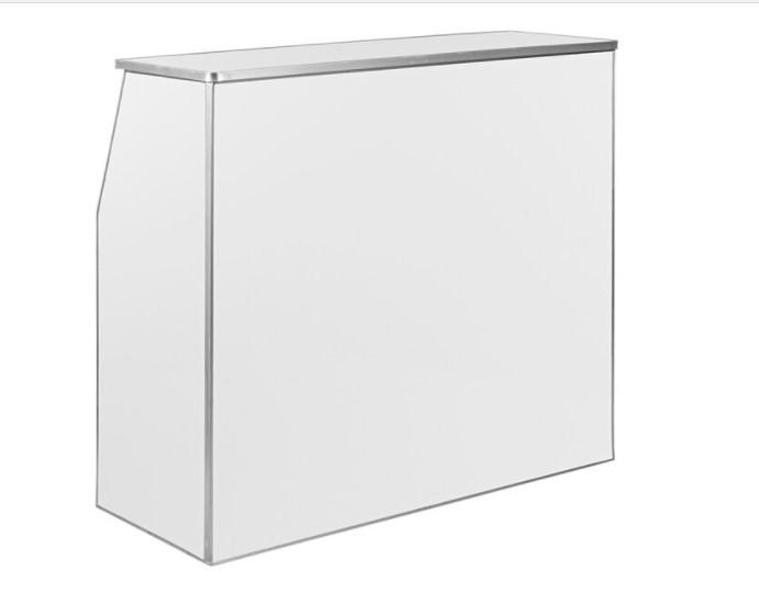white portable bar rental