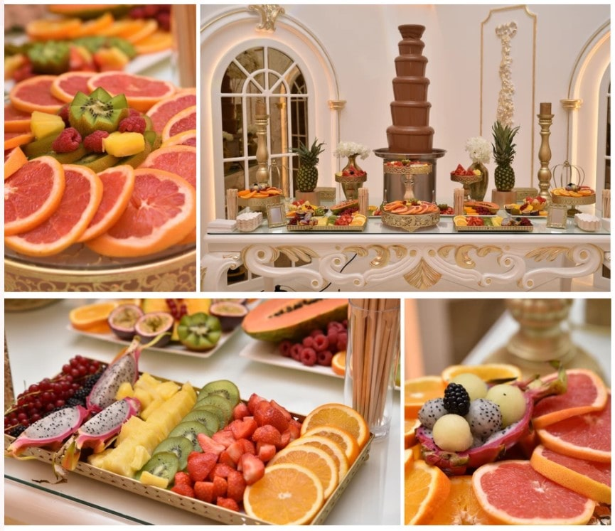 Fruit Buffet with chocolate fountain