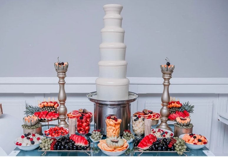 White Chocolate Fountain for rent in NYC