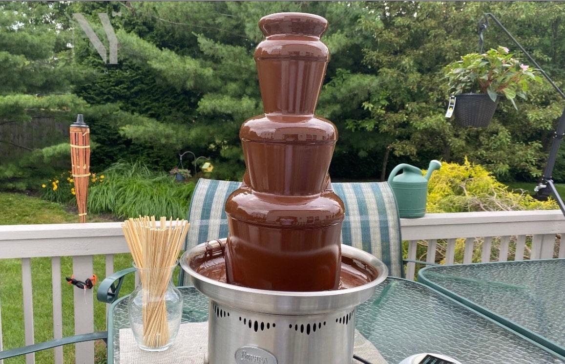 Chocolate Fountain in the garden