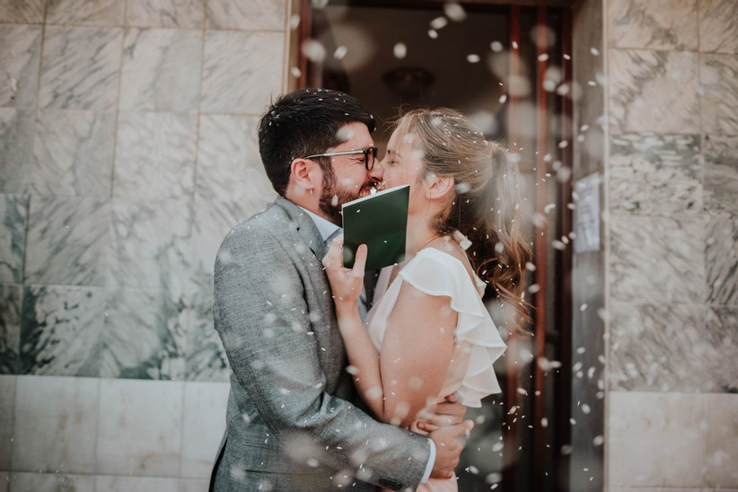 Kiss after married