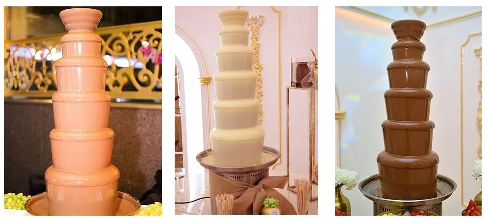 Chocolate fountains options