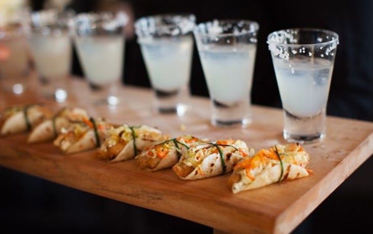 HORS D'OEUVRES WEDDING TACO